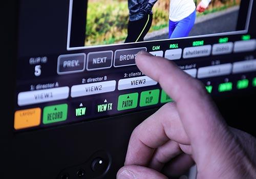 Touchscreen browse button detail